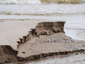 海岸に堆積する砂